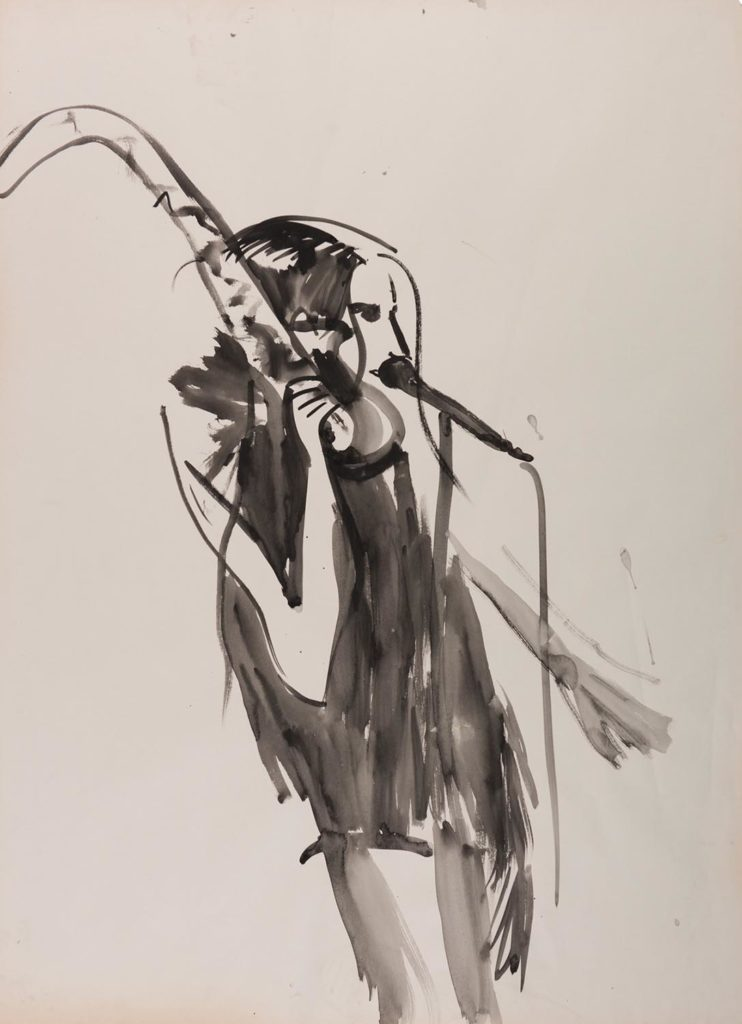 PJ Harvey 3_2017_watercolor on paper_88x64cm