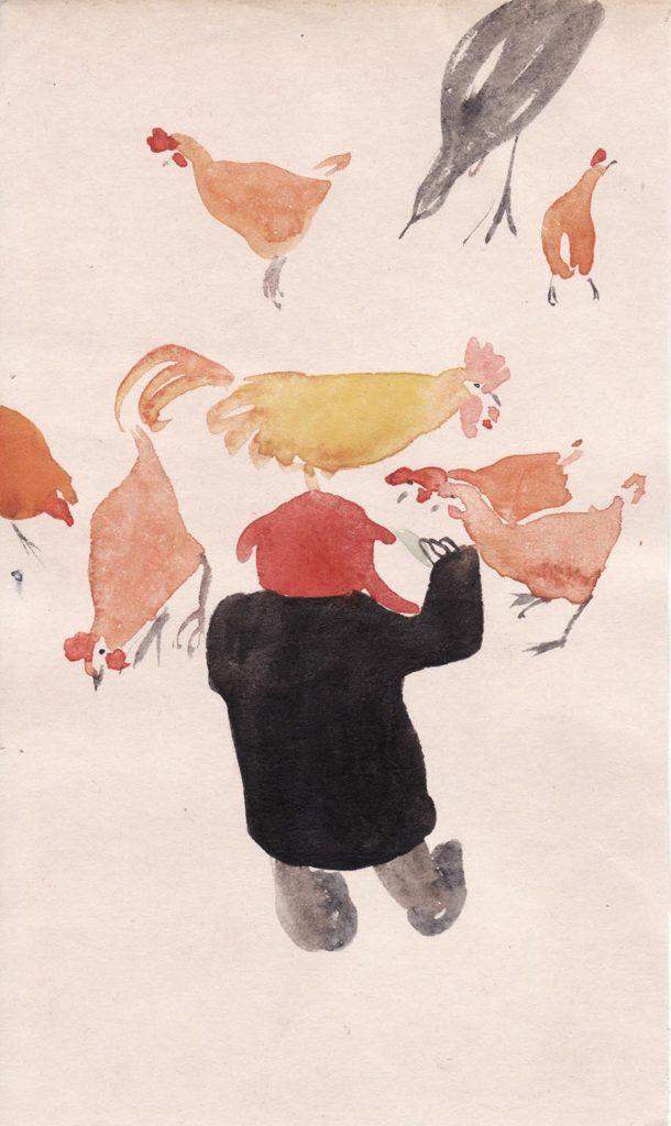 Maelle con galline